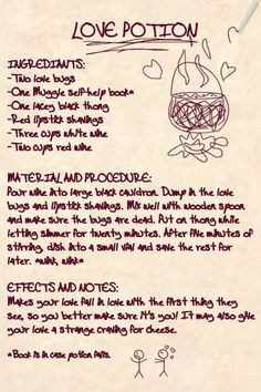 harry potter potions recipes - Buscar con Google