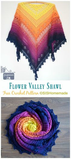 Trendy Ideas For Crochet Flowers Shawl Patterns Crochet Shawl Free, Crochet Shawls And Wraps, Crochet Scarves, Crochet Stitches, Lace Shawls, Lace Scarf, Crochet Vests, Knitting Scarves, Crochet Cape