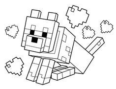 Myndaniðurstaða fyrir minecraft coloring pages