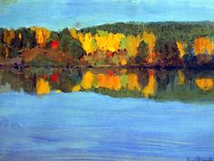 ALONGTIMEALONE: bofransson: Autumn Landscape with a River Eero...