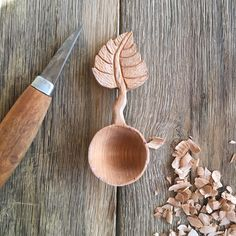 Coffee scoop in progress.