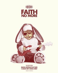 Faith No More concert poster Tour Posters, Band Posters, Music Posters, Play That Funky Music, Music Love, Playlists, Clowns, Les Claypool, Sr1