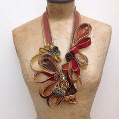 Collana zipper scultura di Comesopra su Etsy