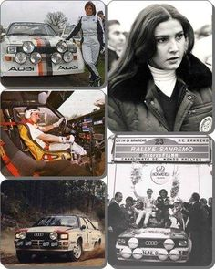 """-The Four Legendary AUDI Drivers- MICHELE MOUTON: 2012 RALLY HALL OF FAME - WRC Team Audi Sport: 4 victories; runner-up in the 1982 Drivers' World Championship. The first and still the last woman to compete in top-level rallying. 1985, won Pike's Peak Hillclimb. In 1986 w/ Team Peugeot became the Ger- man Rally Champion, and, the first female to win.. Today, she is FIA's WRC Manager & the first president of its """"Women & Motorsport Com- mission"""" and a knight in the Legion Of Honor (France… Subaru Rally, Rally Car, Audi Sport, Audi Quattro, Audi Tt, World Of Sports, Car And Driver, Michel, World Championship"""