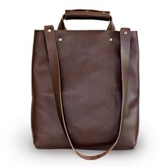 Mens,Womens Brown tote, Brown Leather Tote, Market bag, Leather tote, Leather bag, Messanger