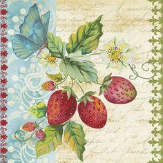 Vintage Fruit-strawberries Painting
