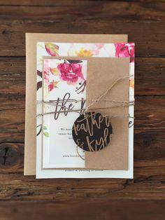 Rustic Watercolor Wedding Invitations Bohemian Fls Sample By Paperandlace On Etsy Https