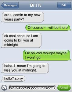 funny auto-correct texts - Under The Mistletoe