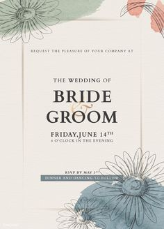 Wedding card mockup | premium image by rawpixel.com / manotang Retro Background, Beige Background, Oil Paint Brushes, Badge Template, Crumpled Paper, Save The Date Invitations, Best Templates, Floral Invitation, Flower Frame