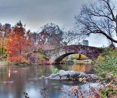 Gapstow Bridge, Central Park, New York City pinned with Pinvolve