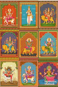 Durga Painting, Kerala Mural Painting, Lord Shiva Painting, Indian Art Paintings, Madhubani Art, Madhubani Painting, Goddess Art, Durga Goddess, Meditation Art