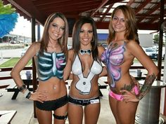 Nudist girls body painting this summer apologise, but