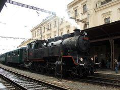 Steam train at Brno's Hlavni Nadrazi