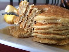 A Life Without Ice Cream: Quinoa Pancakes   These are super quick, gluten and dairy-free, and pack in 18g of protein!