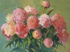 Pink Peonies, Meredith Brooks Abbott; 2014; Oil on canvas