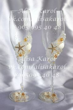 Hey, I found this really awesome Etsy listing at https://www.etsy.com/listing/178918920/hand-decorated-champagne-wedding-glasses