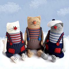 Amigurumi cat pattern Crochet toy kitty making Julius the Happy Chef Cat Magic Ring Crochet, Crochet Hook Set, Diy Crochet, Crochet Patterns Amigurumi, Amigurumi Doll, Crochet Dolls, Cat Pattern, Free Pattern, Crochet Animals