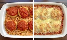 Quick & Easy Mini Garlic Toast Pizzas - The Lazy Dish dinner 3 ingredients Lazy Chicken Parmesan Baked Spaghetti - The Lazy Dish Easy Snacks, Healthy Snacks, Easy Meals, Simple Meals, Healthy Eating, Easy Dinner Recipes, Breakfast Recipes, Sausage Breakfast, Dinner Ideas