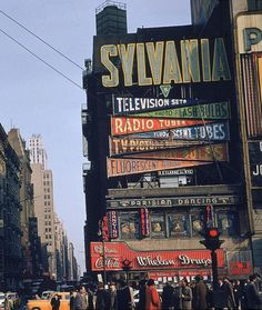 Billboards in Times Square, 1952