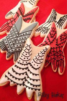 "Custom Decorated ""Flapper Dress"" Sugar Cookies"