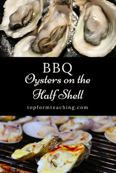 Smoky, tender and perfect every time. Eat these BBQ oysters on the half shell on grilled or toasted baguette for a little bit of crunch. Barbecue Recipes, Grilling Recipes, Slow Cooker Recipes, Grilling Tips, Seafood Dishes, Seafood Recipes, Bbq Oysters, Easy Dinner Recipes, Easy Meals