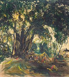 Artist Affandi Koesoema (Cierbon, West Java 1907~1990) was a painter aka Maestro Painting Indonesia.