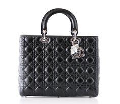 Christian Dior Bag Lady Dior Black Cannage Lambskin Large NWT