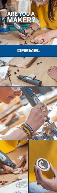 What is a Dremel Tool? How Can We Use It In Many Different Ways And Designs? - DIY discoversAre you a dremel maker Show us! Use the hashtag dremel or dremelmaker and show your Dremel Woodworking Hand Tools, Woodworking Projects, Dremel Tool Projects, Dremel Ideas, Dremel Drill, Dremel 3000, Dremel Bits, Etching Tool, Dremel Wood Carving