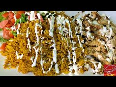 How To Make NYC Halal Chicken Over Rice - YouTube Yellow Rice Recipes, Chicken Over Rice, Poultry, New Recipes, Bacon, Bell Button, Nyc, Cooking, Breakfast