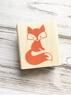 Items similar to Fox Rubber Stamp - Forest Critter Woodland Animal Stamp on Etsy Mini Balloons, Fox Art, Panda, Woodland Animals, Fabric Painting, Pet Birds, Original Artwork, Etsy, Handmade