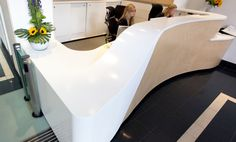 Corian® Reception Desk in London Bank by Solidity Ltd - Offices - Products - CDUK
