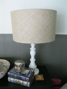Burlap Lamp Shades Tutorial