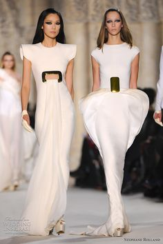 Stephane Rolland Spring 2012 - the dress on the right is beyond amazing