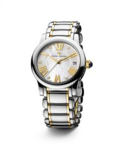 david yurman classic 34mm stainless steel quartz watch with 18k gold and diamonds davidyurman