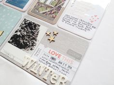 winter project life card -