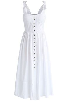 Dashing Darling Cami Dress in White - New Arrivals - Retro, Indie and Unique Fashion