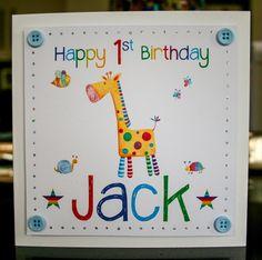 Handmade Personalised 1st Birthday Card By Michaela De Latour Luxury Cards Baby
