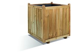 This handsome large capacity planter, with its attractive tongue and groove detailing, is perfect if you like to ring the changes in your outdoor space. H:750mm W:700mm D:700mm