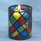 """Stained Glass"" Votive Candle Holders in the EWTN - CATHOLIC CRAFT CORNER"