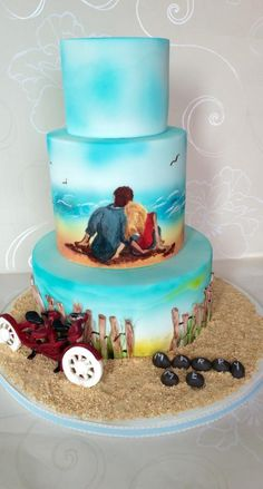 Romantic Memories Wedding Cake  - Cake by Lotties Cakes & Slices