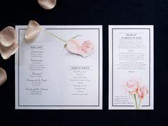 Rose wedding program inside by Willie wagtail design Wedding Stationary, Wedding Programs, Saint Francis Prayer, Invites, Wedding Invitations, Order Of Service, Francis Of Assisi, Craft Wedding, Rose Wedding
