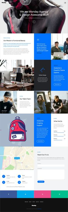 Monday is clean and modern design multipurpose responsive #WordPress theme for #creative #agency website with 15+ niche homepage layouts download now..