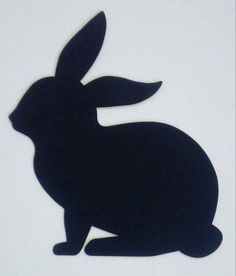 Rabbit Silhouette, Animal Silhouette, Silhouette Design, Coconut Shell Crafts, Animal Templates, Easy Canvas Painting, Baby Boy Quilts, Scroll Saw Patterns, Outdoor Christmas Decorations