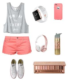 """""""Love the colors"""" by soccer-tumblr ❤ liked on Polyvore featuring Victoria's Secret, Roxy, Urban Decay, LifeProof, Converse, women's clothing, women, female, woman and misses"""