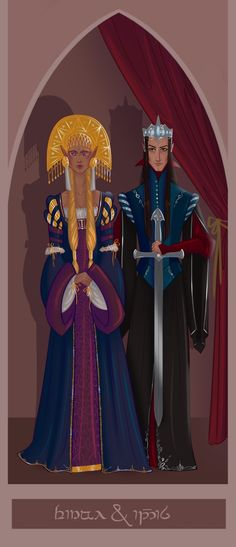 Индис и Финвэ    Finwë and Indis from The Silmarillion.