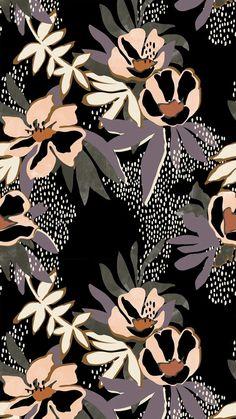 Iphone Background Wallpaper, Cool Wallpaper, Pattern Wallpaper, Pattern Illustration, Graphic Illustration, Illustrations, Cute Backgrounds, Cute Wallpapers, Motif Floral