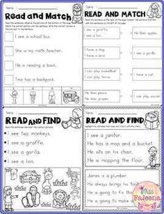 Free Reading Activities for Beginning Readers by Miss Faleena Reading Activities, Reading Skills, Teaching Reading, Free Reading, Reading Intervention, First Grade Phonics, First Grade Worksheets, First Grade Reading, Teacher Tools