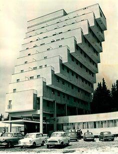 Constructivist architecture, Slovakia, Strbske Pleso, Panorama Hotel Ski Resort