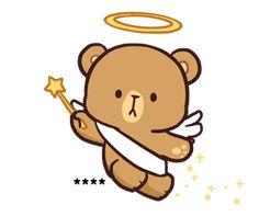 Cute Bear Drawings, Cute Little Drawings, Cartoon Stickers, Cute Stickers, Cute Couple Cartoon, Love Quotes Wallpaper, Cute Love Gif, Bunny And Bear, Bear Cartoon