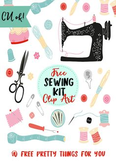 Free Sewing Kit Clip Art Elements - Free Pretty Things For You